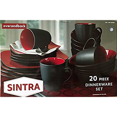 Over and Back Sintra 20-Piece Dinnerware Set, Red