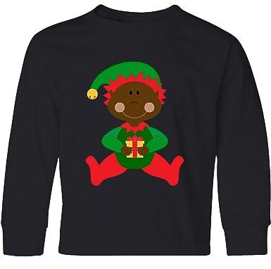811259664 Amazon.com: inktastic - Christmas Elf Ethnic Youth Long Sleeve T-Shirt  1f9bb: Clothing