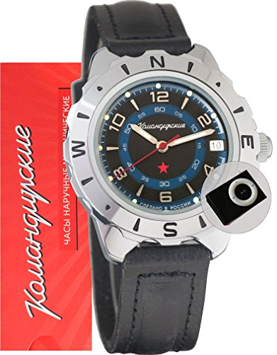 Vostok Komandirskie 641641 / 2414A Military Special Forces Russian Watch Black and MP3 player