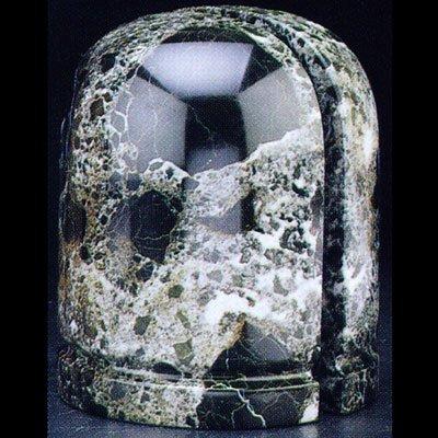Bey-Berk R10R Black Zebra Marble Dome Bookends, ()
