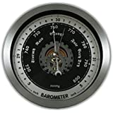 "Ambient Weather WS-152BN 6"" Contemporary Open Face Barometer"