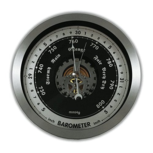Ambient Weather WS-152BN 6'' Contemporary Open Face Barometer