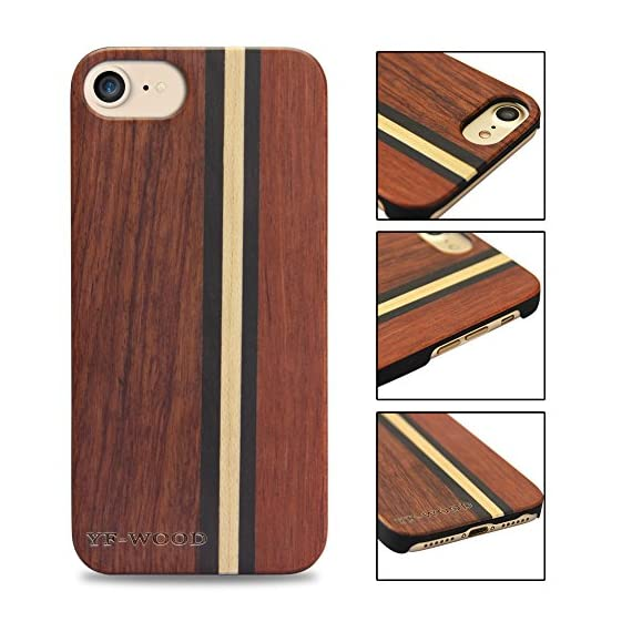 Yfwood compatible for iphone 7 wood case, real wood pattern high impact durable shockproof heavy duty back protective… 4 ❶ wooden iphone 7 case,iphone 8 case ,slim-fit, so it won't make your device bulky, or difficult to manage. Easy to access all ports,controls and buttons without removing the case. The case edges are fully covered and slightly raised to protect your screen from scratches ❷good drop protection with reinforced corners: reinforcement bumper covers all 4 corners that raised bezel to lift screen and camera off flat surface that the iphone 7 wood case offer the maximum protection for your iphone 7/8 when it dropped. ❸ ergonomic design-practical protector, this stylish and luxurious wood cover offers an enhanced grip and textured geometric design that adds even more protection to this iphone 7 case,iphone 8 case