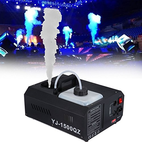 Iglobalbuy Portable 1500W Vertical DMX Fog Machine Stage Fogger W/Wireless Remote Control (Dj Fog Machine)