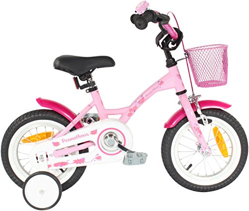 prometheus 12 inch kids bike in colour pink white with. Black Bedroom Furniture Sets. Home Design Ideas