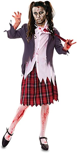 EUROCARNAVALES Disfraz de Estudiante Zombie - Mujer, M: Amazon.es ...