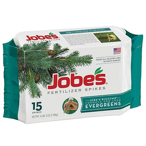 Jobes 01611 Evergreen Fertilizer Spikes 13-3-4 15 Pack