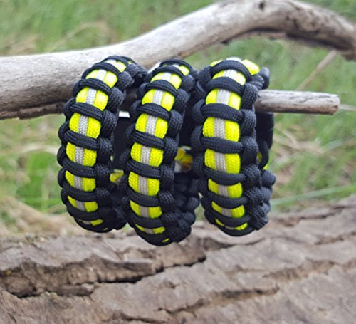 Firefighter Bunker Gear Paracord Bracelet Black