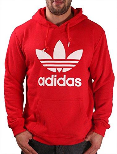 Adidas Red/white Trefoil Pullover Hood ()