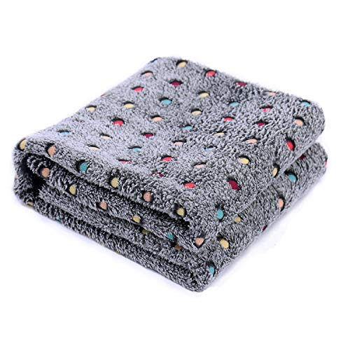PAWZ Road Pet Dog Blanket Fleece Fabric Soft and Warm Pet Throw Medium (40X30 Inches) Dark Gray Blanket