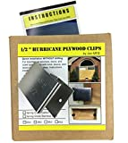 "1/2"" Hurricane Plywood Clips to Shutter Windows, Spring Grade Stainless Steel - 20 pack"