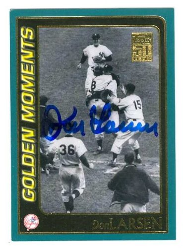 Don Larsen autographed Baseball Card (New York Yankees) 2000 Topps #378 Golden Moments The Perfect Game 1956