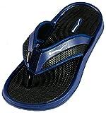 SLR BRANDS Rubber Comfortable Shower Beach Shoe Slip On Flip Flop Sandal (8, Navy Blue)