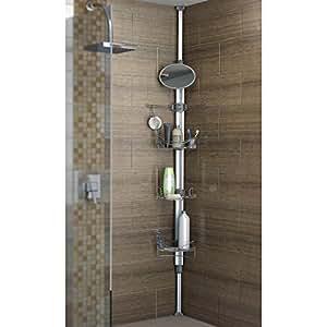 Artika monsoon ii adjustable and extendable stainless - Bathroom corner caddy stainless steel ...
