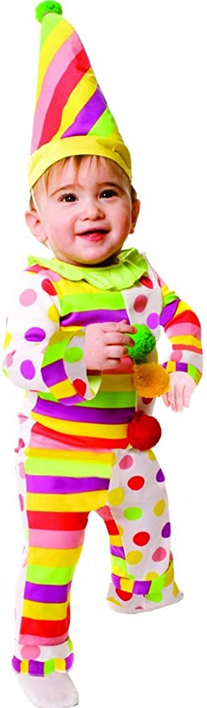 Dress Up America Baby Dots N' Stripes Infant Clown