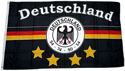 Fahne Flagge Deutschland Fu/ßball 6 NEU 90 x 150 cm