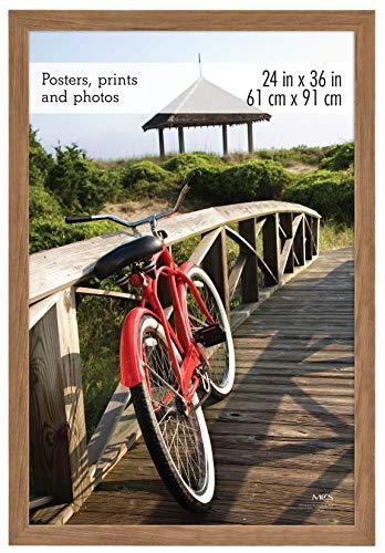 MCS  Museum Poster Frame 24x36 Inch Medium Oak Woodgrain