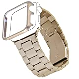 Apple Watch Band, Biaoge 38mm Top Stainless Steel Bracelet...