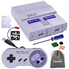 Retroflag SUPERPI CASE SNES CASE UCase with Functional Power Button and Reset Button, with Classic USB Controller, Raspberry Pi Heatsink Fan for Raspberry Pi 3 B+ & Raspberry Pi 3/2 Model B/B+