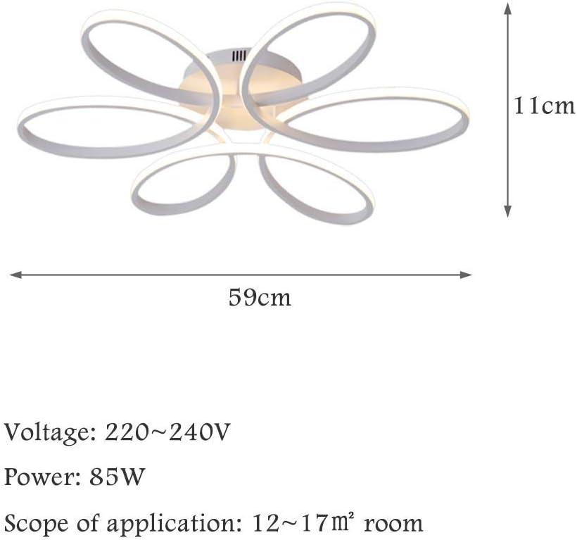 Warm Light 85W Creative Flower-shaped Deckenleuchte LED Deckenleuchte Acryl Lampenschirm Modern Elegant Matt Aluminium Deckenleuchte Wohnzimmer Schlafzimmer Kinderzimmer Deckenleuchte L59 * H11cm