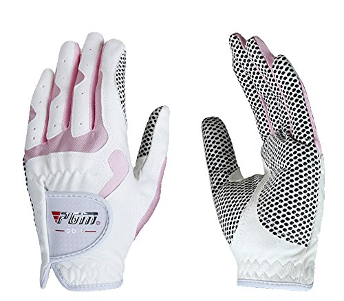 PGM Women's Golf Glove One Pair, Improved Grip System, Cool and Comfortable