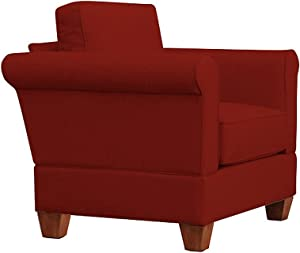 Furniture For Living Gregory Big Chair with Oak Legs, Red