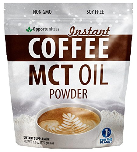 MCT Oil Powder + Instant Colombian Coffee - No Creamer Needed, It's Ready Now - Great for Keto Diet - Natural Energy Supplement with Fiber - Perfect for Exercise or Workout - 6 oz