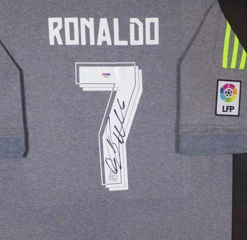 f557e0548 Signed Cristiano Ronaldo Jersey - Framed Fly Emirates Adidas Grey Stock   131923 - PSA