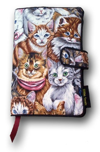 Paperback (Taller) Novel Size - Whiskers & Tails Book Cover - Great Book Cover with Cats Theme Design Pattern by Hidden Secrets Book Covers (Image #3)