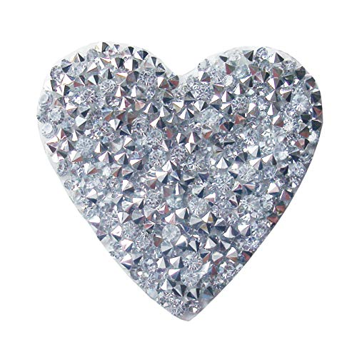 Bling Heart Bling (Rhinestones Patch Crystal Girl Applique Iron-on Transfer Patch Bling,Pack of 5 Pieces (heart))