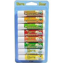 Sierra Bees Organic Lip Balms Variety Pack 8 Pack