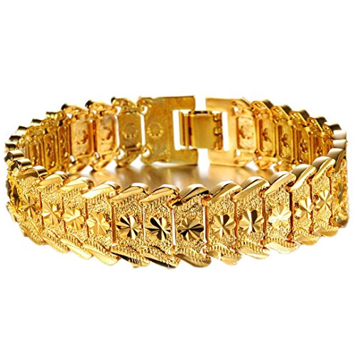 OVERMAL Fashion Jewelry Wholesale Fashion Jewelry Plated 18K Gold Men's Gold Bracelet