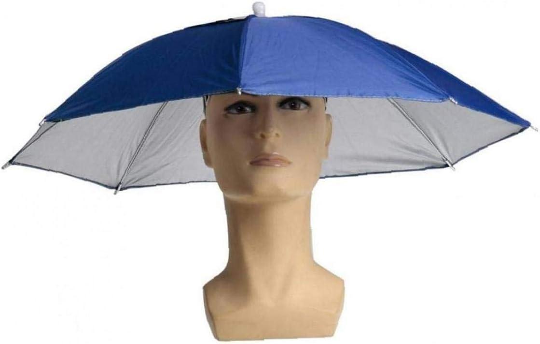 Lankater Mod/èle Pliable Parapluie HatAnti UV Sun Protect Umbrella Couvre-Chef p/êche Chapeau Imperm/éables Portable Parapluie pour P/êche Randonn/ée Plage Cap dext/érieur EquipMalet