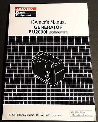 2011 HONDA POWER GENERATOR EU2000i COMPANION OWNERS MANUAL (643)