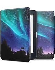 kwmobile hoes compatibel met Kobo Nia - Case voor e-reader in turquoise/blauw/zwart - Noorderlicht Hert