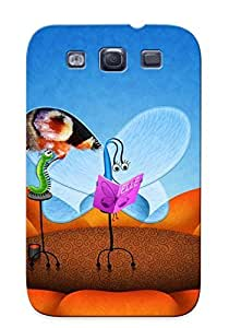 New Arrival Case Specially Design For Galaxy S3 (a Caterpillar Painting A Butterflys Wings )