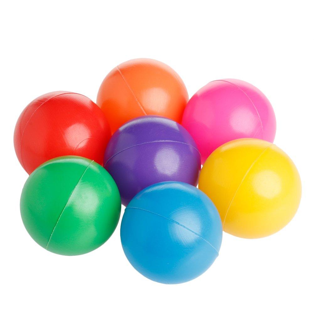 hibyebuying Pit Balls, 100pcs 7cm Colorful Soft Plastic Ocean Ball Baby Kid Fun Swim Pit Toy for Baby Kids Tent Swim