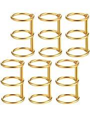 NUOBESTY 6pcs Loose Leaf Binder Rings Metal Sheet Binder Book Rings Calendar Round Circle Staple 3 Ring for Notebook Diary Photo Album DIY Planner Connector Ring 2cm