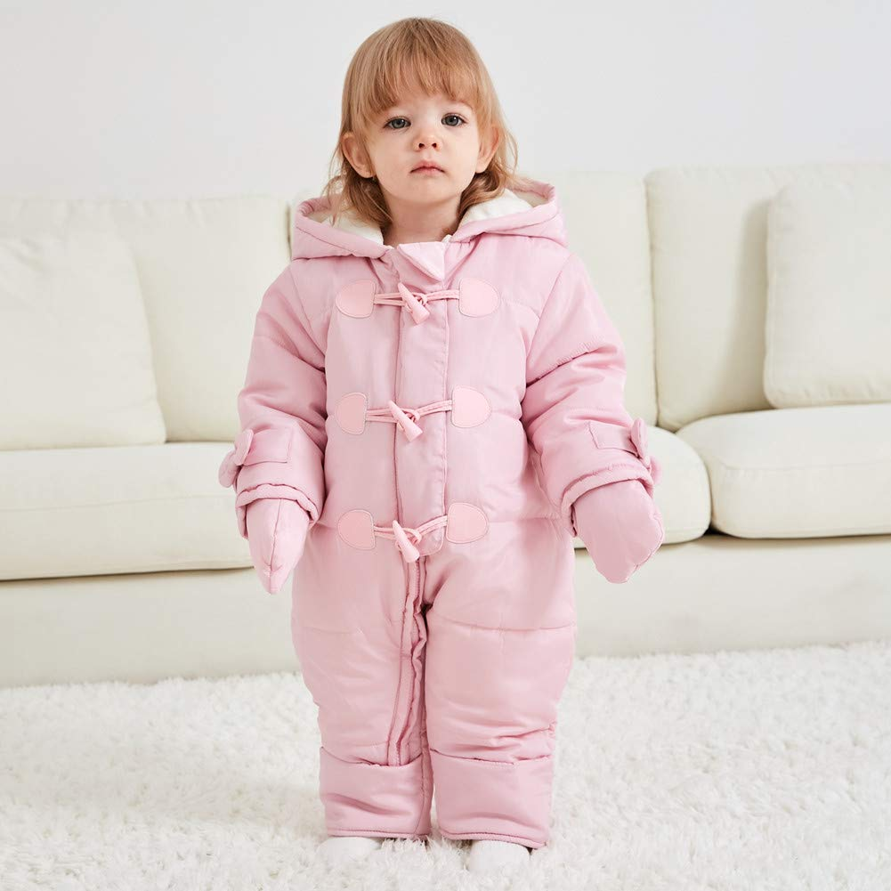 TeenMiro Baby Winter Clothes Newborn Fleece Bunting Infant Snowsuit Girl Boy Snow Wear Outwear Coats 0-24 Months