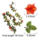 Fake Rose Vine Flowers Plants Artificial Flower