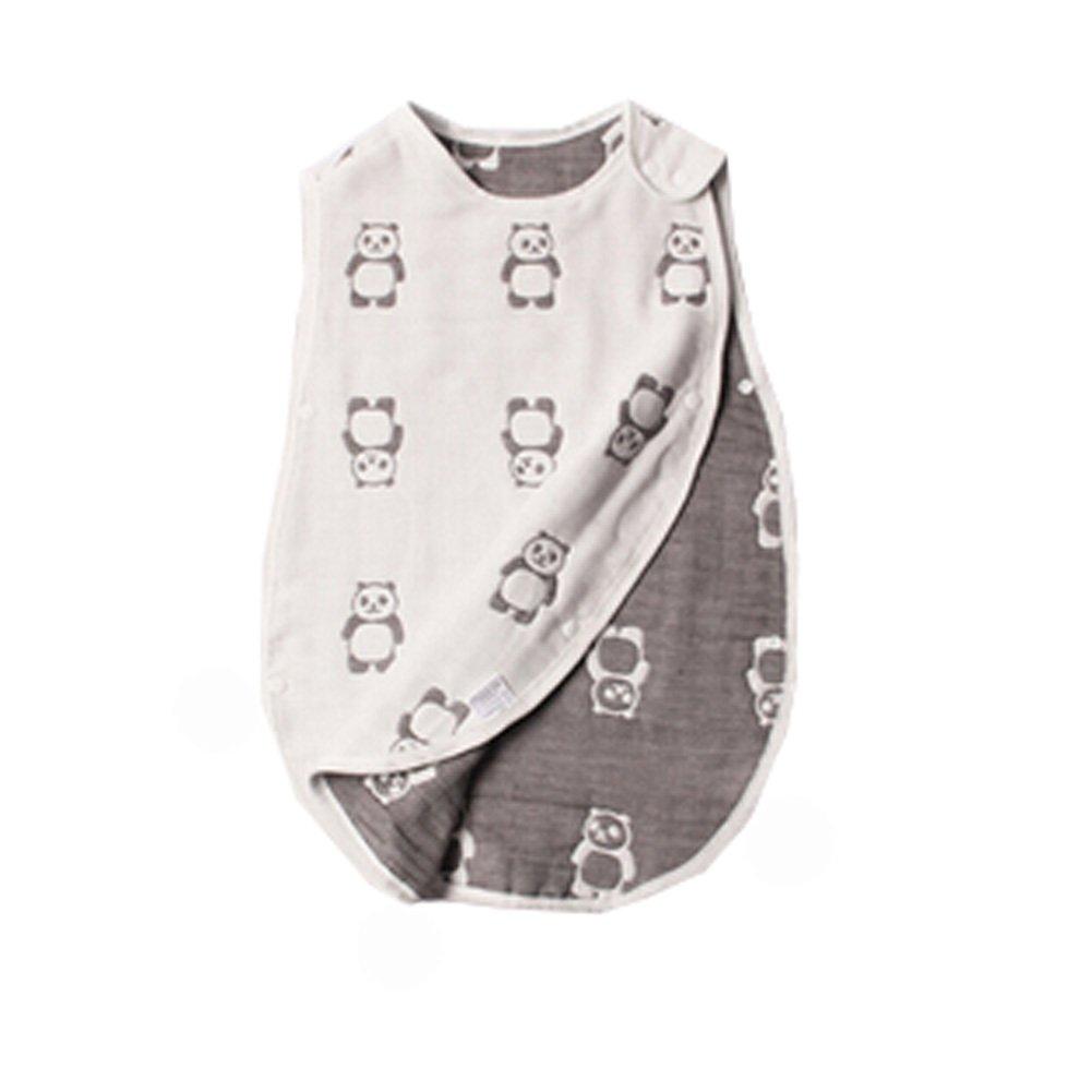 Baby Sommer Schlafsack 100% Baumwolle, Wearable Decke, 0-12months, M, Panda Blancho Bedding