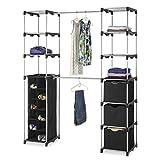 Generic O-8-O-3729-O Rod S Organizer Rod rganize Clothes Garment s Garme Portable Storage Closet Rack C Shelves loset W Wardrobe Rack NV_1008003729-TYQFUS32