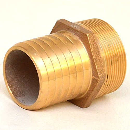 Perko 2-Inch Pipe To Hose Adapter Straight Bronze