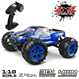 KIDCHEER Hobby RC Cars S920 High Speed 46km/h Off Road Remote Control Vehicles Waterproof Large Size 1:10 RC Trucks 2.4Ghz 4WD Monster for Adults and Kids Gifts for Boys - Blue