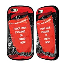 Custom Customized Personalized Red Banner Liverpool FC Hybrid Case for Apple iPhone 5 / 5s / SE