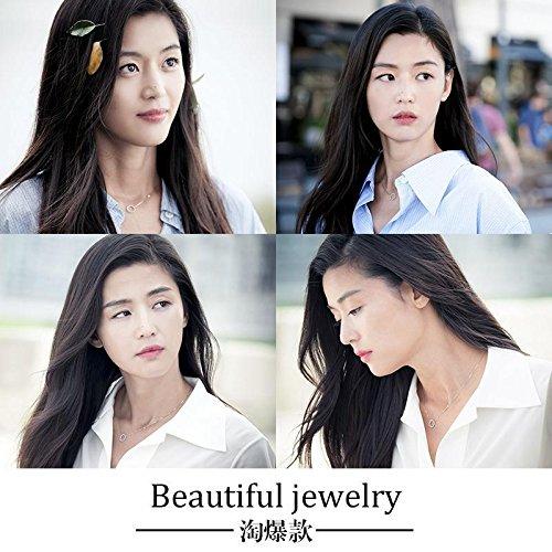 Generic 925/_ sterling silver necklace pendant collar bone /_special/_Luo/_Shi/_ flash diamond crystal box /_Aurora/_ bright /_light