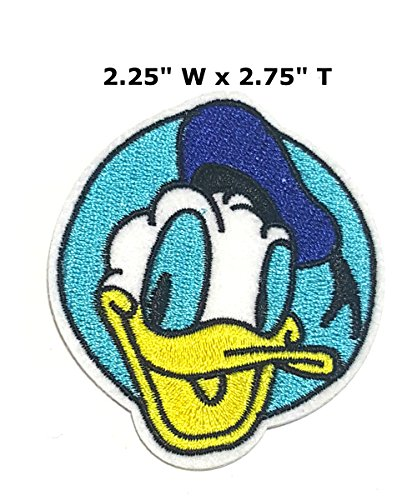 Donald Duck Cartoon Embroidered Sew or Iron-on Patch Badge DIY Application Appliques (Donald Dangle Duck)