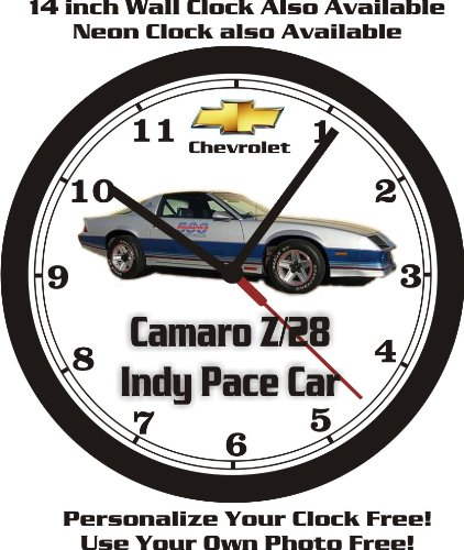 1982 CHEVROLET CAMARO Z28 INDY PACE CAR WALL CLOCK-FREE USA SHIP!