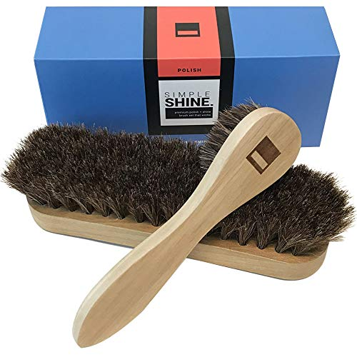 Premium Horsehair Shoe Shine Brush and Polish Applicator Set | Shoe Shining Bristle Brushes and Dauber Kit