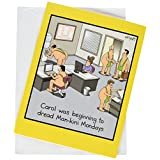 NobleWorks Jumbo - Funny Birthday Card: 'Man-kini' with Matching Envelope Extra Large Version, 8.5 x 11 Inches (J8286)